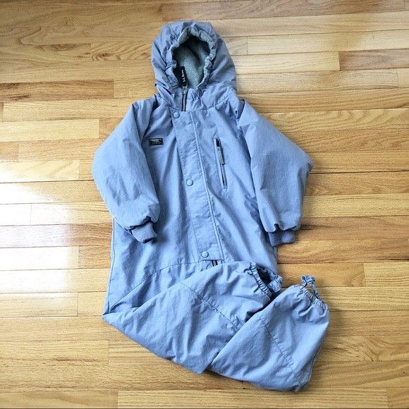 VTG LLBEAN Girls Lilac One Piece Hooded Snowsuit